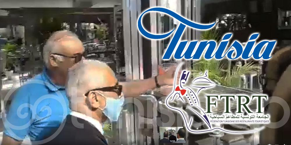 Nabil Bziouech en visite d'inspection au Billionaire