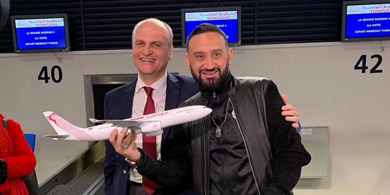 En photos : L'accueil de Tunisair à Cyril Hanouna
