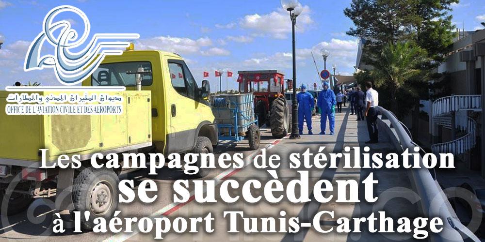 Les campagnes de stérilisation se succèdent à l'aéroport Tunis-Carthage