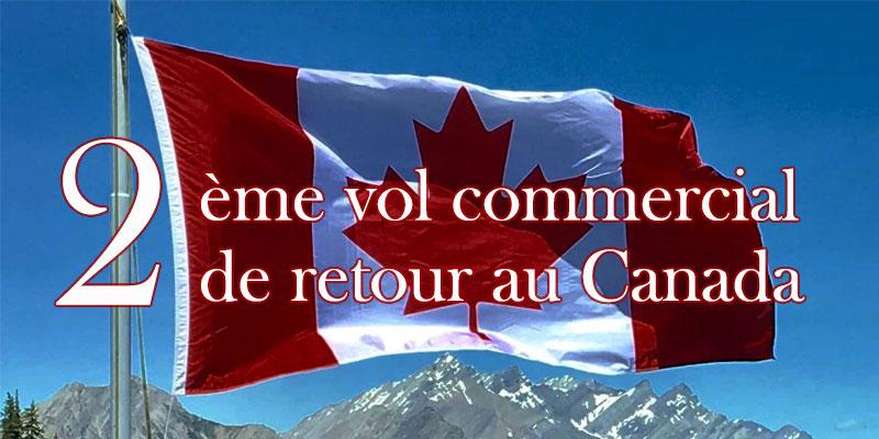 Un 2ème vol commercial de retour au Canada