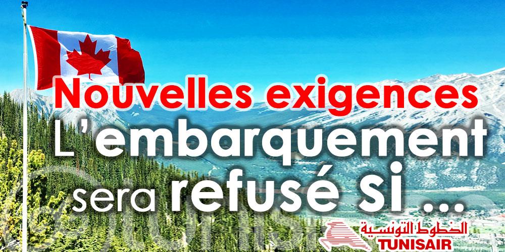 Tunisair : Nouvelles exigences pour les passagers à destination du Canada