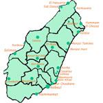 Distances entre les villes tunisiennes :  depuis Nabeul