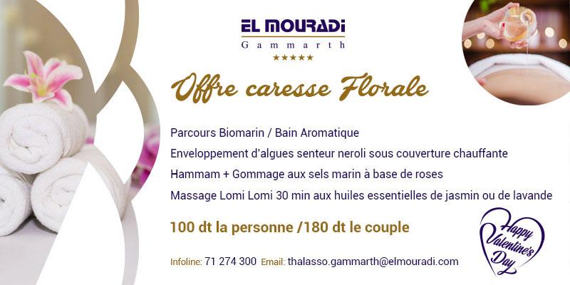 El Mouradi Gammarth fête la Saint-Valentin et lance son offre Caresse Florale du 8 au 21 Février
