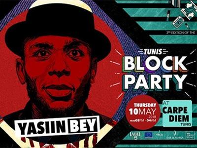Le rappeur américain YASIIN BEY, a.k.a MOS DEF au Carpe Diem Outdoor le 10 mai