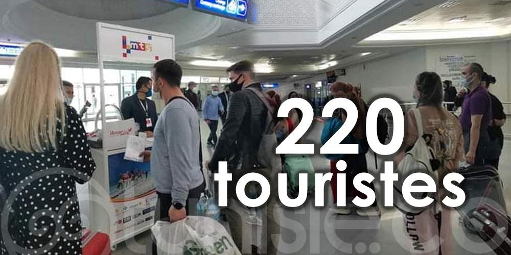 Arrivés sur l'île de Djerba, 220 touristes ont choisi la Tunisie pour un séjour au soleil