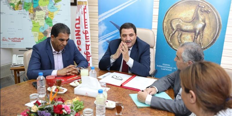 توقيع إتفاقية شراكة بين الخطوط التونسية ومهرجان قرطاج الدولي