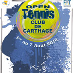 Open de Carthage du 1er au 7 Août au Tennis Club de Carthage