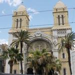 Visite à la Cathédrale Saint Vincent de Paul de Tunis avec le vicaire Silvio Morano