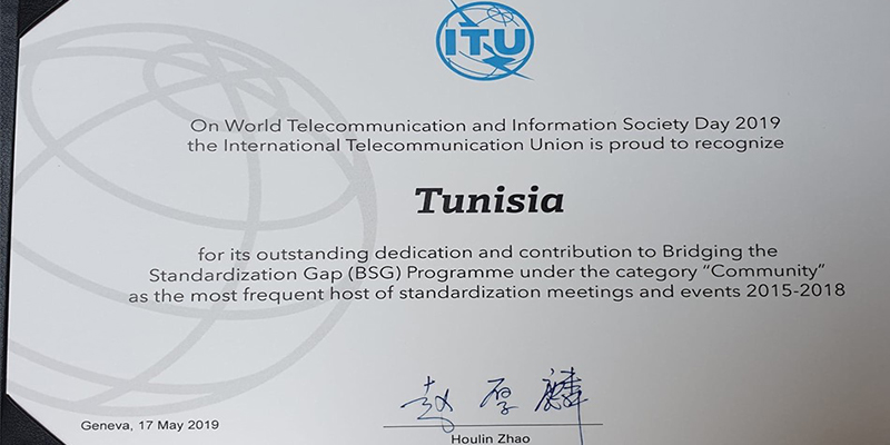 ONU: La Tunisie lauréate du WTISD certificate Award