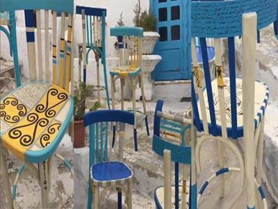 Les chaises au look de Sidi Bousaïd by Achraf Baccouch