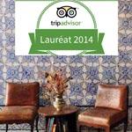 La Chambre Bleue à la Médina de Tunis reçoit le Certificat d'Excellence 2014 par TripAdvisor