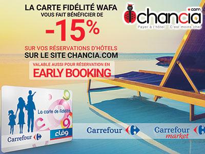 Chancia s'associe à Carrefour et propose jusqu'à 65% de remise sur vos réservations d'hôtels