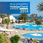El Mouradi Djerba Menzel obtient le Certificat HolidayCheck 2014