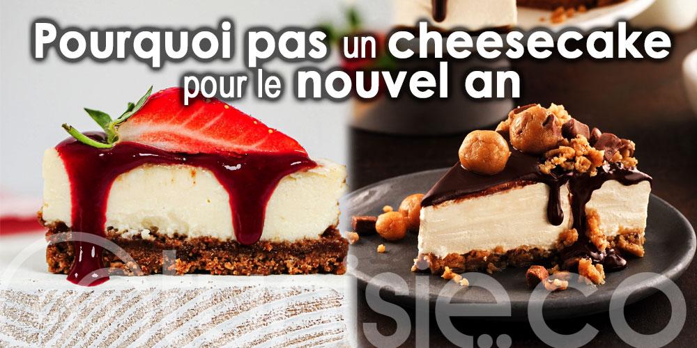 Pourquoi pas un cheesecake pour votre soirée du nouvel an !