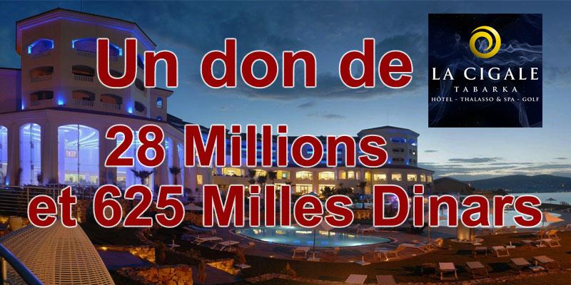 Le groupe MAJDA fait don de 28 Millions et 625 Milles Dinars au Fonds 1818
