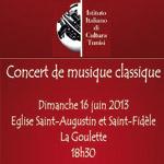 Concert de musique classique à l'Eglise Saint-Augustin et Saint-Fidèle à La Goulette