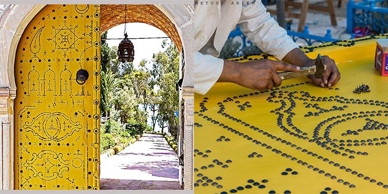 La porte du palais Ennejma Ezzahra se fait une beauté