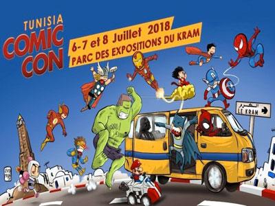La 3ème édition du COMIC CON Tunisia 2018 se tiendra du 6 au 8 juillet