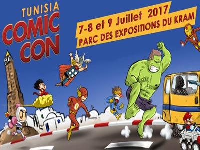 En vidéo : COMIC CON TUNISIA 2017 du 7 au 9 Juillet au Parc des expositions du Kram