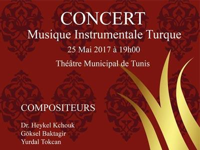 Concert de Musique Instrumentale Turque le 25 Mai au Théâtre municipal de Tunis