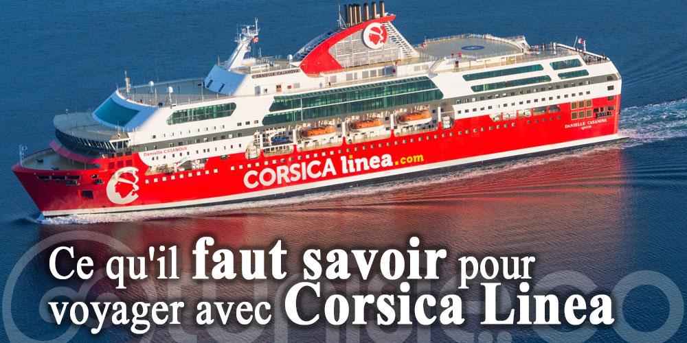 Ce qu'il faut savoir pour voyager avec Corsica Linea Tunisie