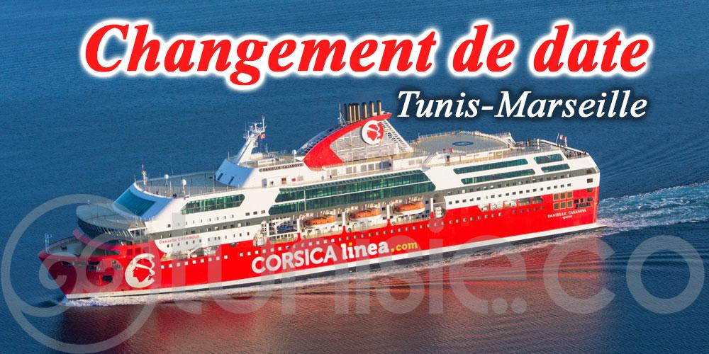 Changement de date - Traversée maritime de rapatriement Tunis-Marseille