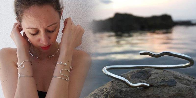Les créations de Randa Driss, ces bijoux en argent au style épuré et minimaliste