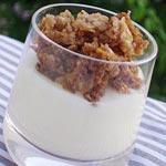 Recette : Verrines de Crème vanille crumble flocons de céréales