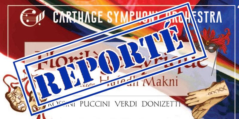 Prévu le 13 Mars, le concert Florilège Lyrique by CSO est reporté