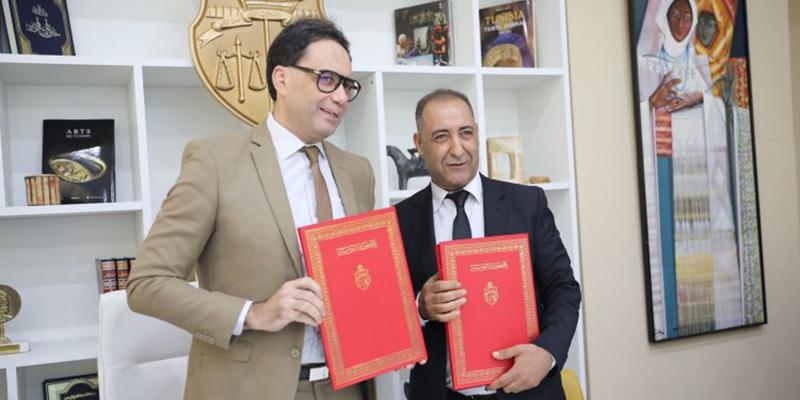 توقيع اتفاقية شراكة بين وزارة الشؤون الثقافية واتحاد الكتاب التونسيين