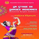 Sur les traces des danses indiennes avec Mahina Khanum du 11 au 15 mai chez Kiné Gym