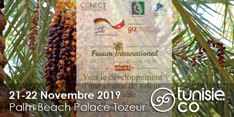 Tozeur: Forum International des Dattes et des Palmiers, 2ème édition du 21 au 22 Novembre