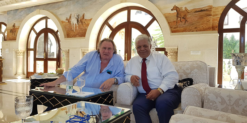 Gérard Depardieu en visite en Tunisie