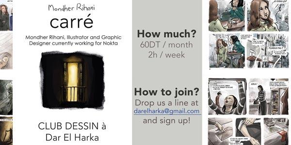 A 60 Dt par mois, Apprenez à dessiner la bande dessinée à la Médina de Tunis