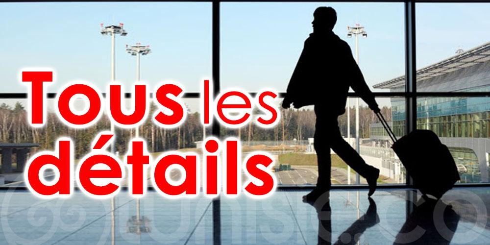 Conditions d'acceptation des passagers arrivant en Tunisie par la voie aérienne : Voici tous les détails