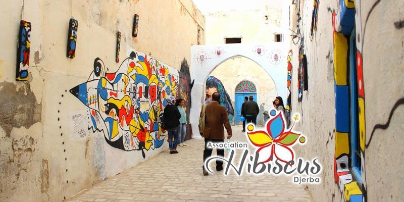En vidéo : Les ruelles de Houmt Souk se parent de mille couleurs grâce au Djerba Painting