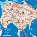 Distances entre les villes tunisiennes :  depuis Djerba