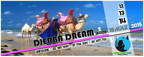 Un séjour d´aventure et d´exploration de l´île de Djerba à partir de mercredi 12 août
