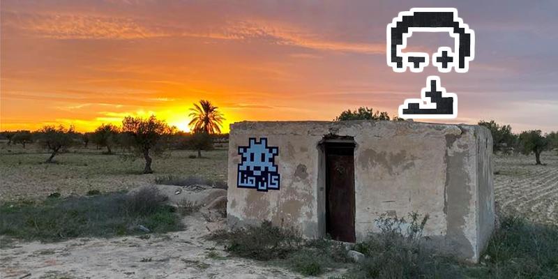 Les œuvres de street art d'Invader envahissent Djerba