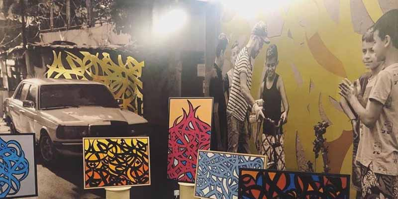 Les œuvres du Tunisien eLSeed inspire des artisanes réfugiées
