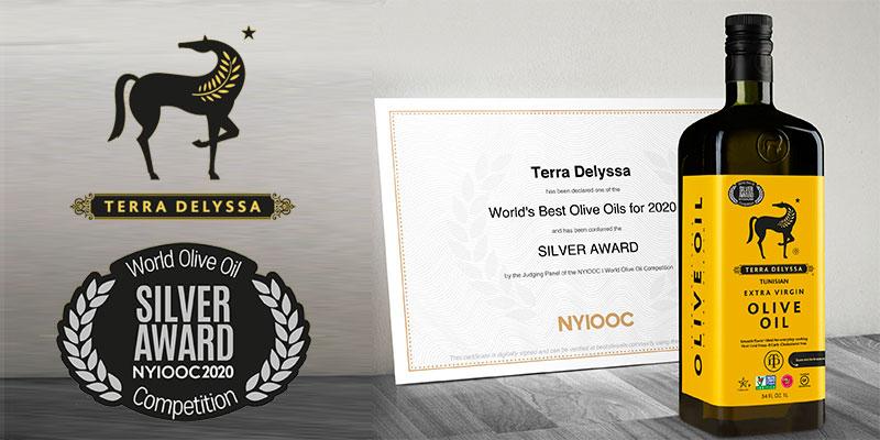 Terra Delyssa décroche la médaille d'argent au 'World's Best Olive Oils'