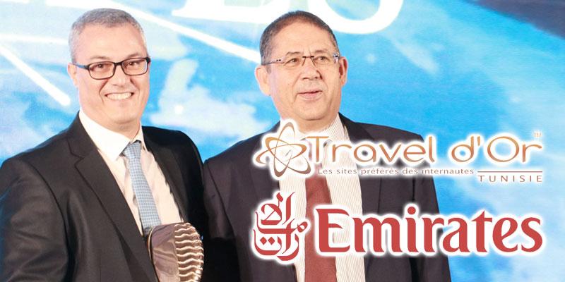 Emirates remporte le prix du meilleur site de compagnie aérienne 2019 au Travel d'Or en Tunisie