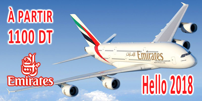 Emirates relance ses vols à partir de 1100 dt pour Dubai