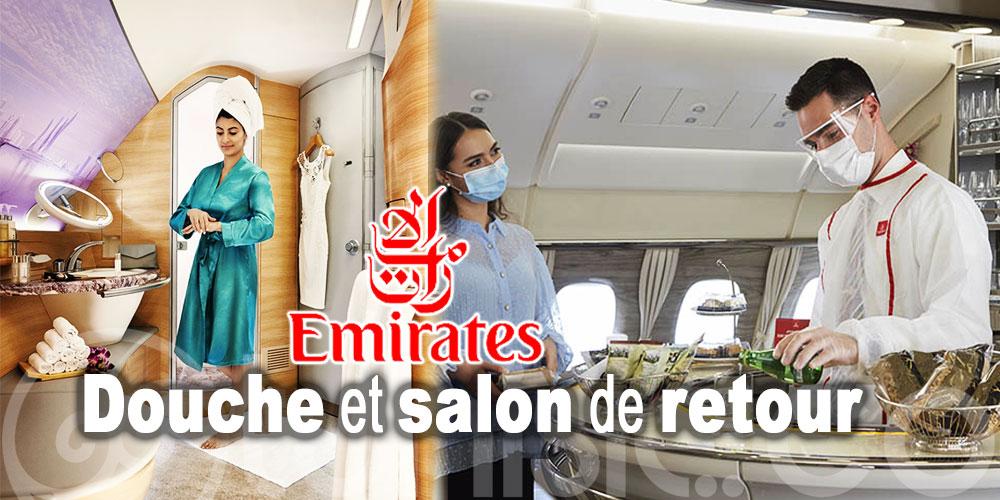 Le Salon et la douche ont repris du service à bord de l'A380 d'Emirates Airlines