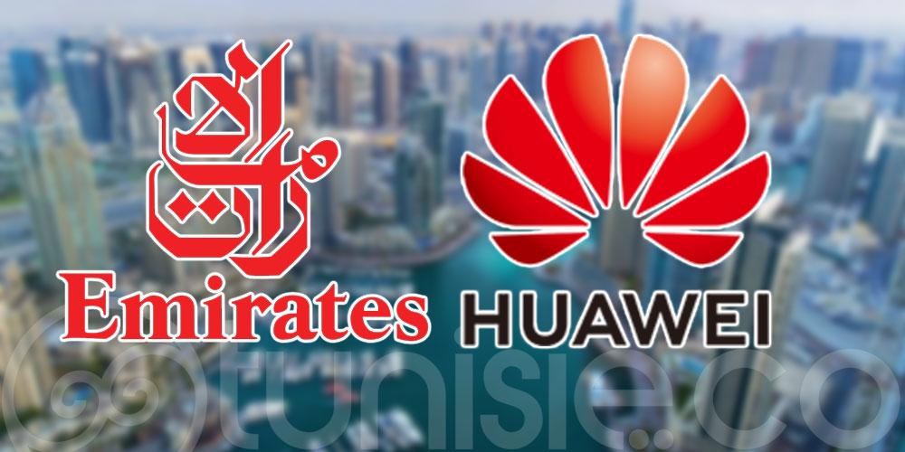Emirates collabore avec Huawei pour promouvoir son application