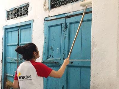 Quand les jeunes d'Enactus SMU se mobilisent pour rénover la médina de Tunis