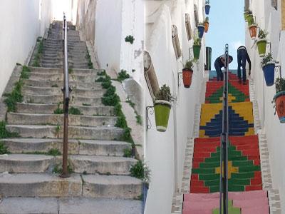 Les escaliers de Montfleury se vêtent de couleurs