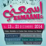 Programme de l´événement Multiculturel Esmâani du 13 au 21 décembre