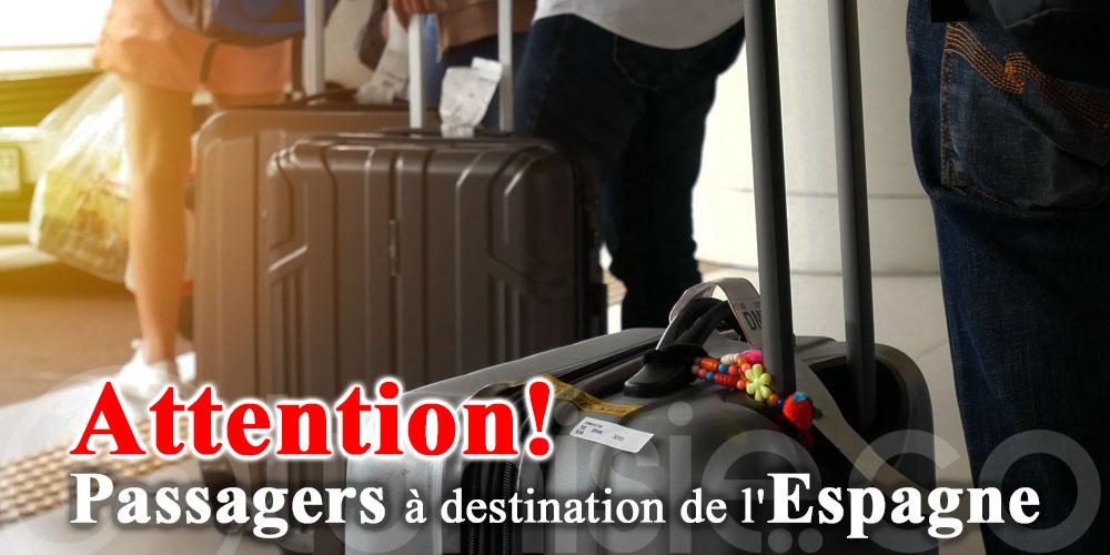 Tunisair: Avis aux passagers à destination de l'Espagne