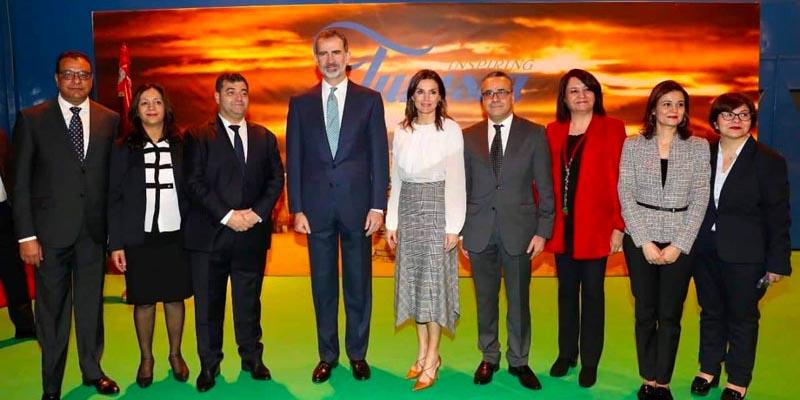 En photos : Le Roi d'Espagne reçu par René Trabelsi au stand tunisien